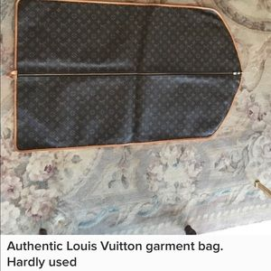 Authentic Louis Vuitton garment bag barely used